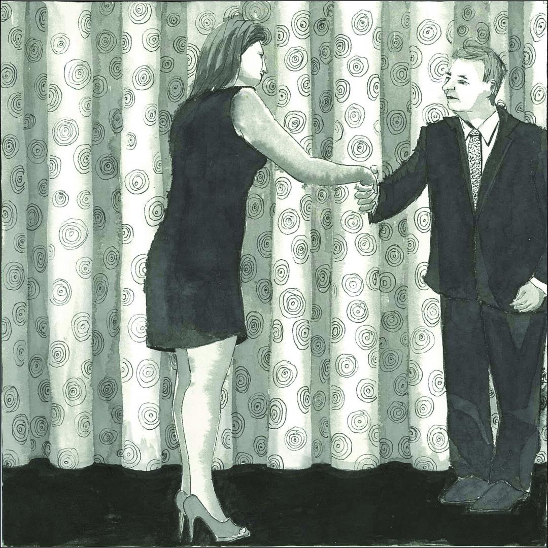 Ohne Titel, Tusche auf Papier, 20x20cm