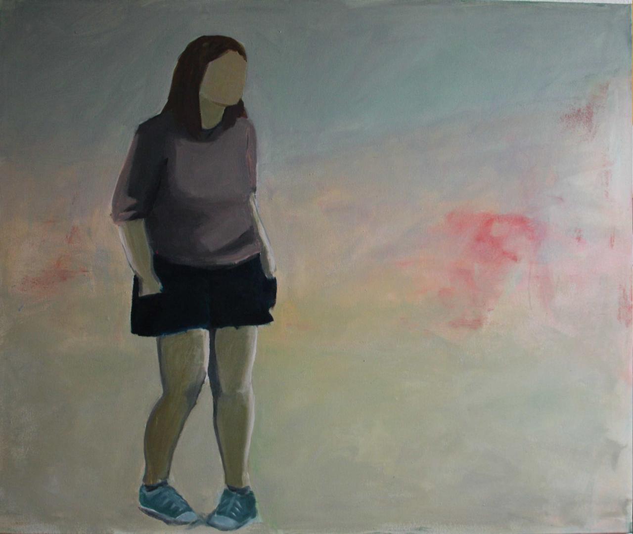 Ohne Titel, Acryl auf Leinwand, 120x100cm