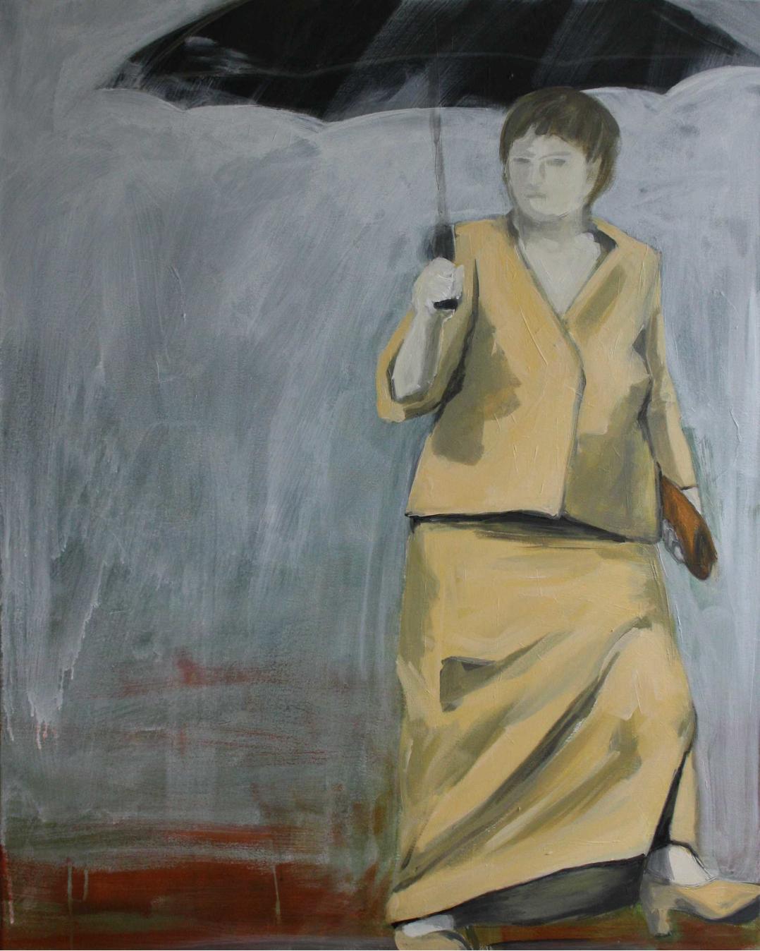 Ohne Titel, Acryl auf Leinwand, 80x100cm