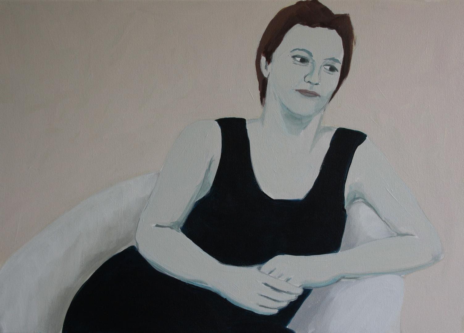Ohne Titel, Acryl auf Leinwand, 70x50cm