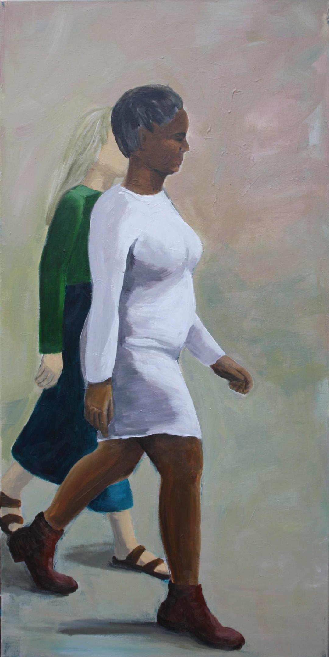 Ohne Titel, Acryl auf Leinwand, 55x110cm