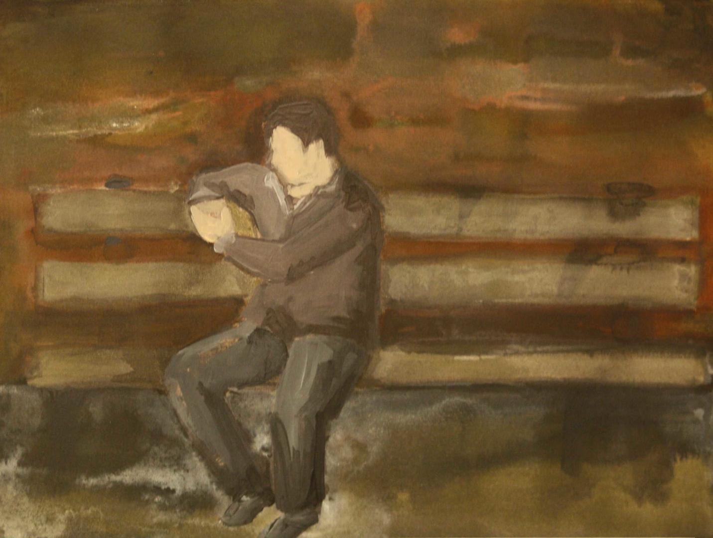 Ohne Titel, Tusche auf Papier, 40x30cm