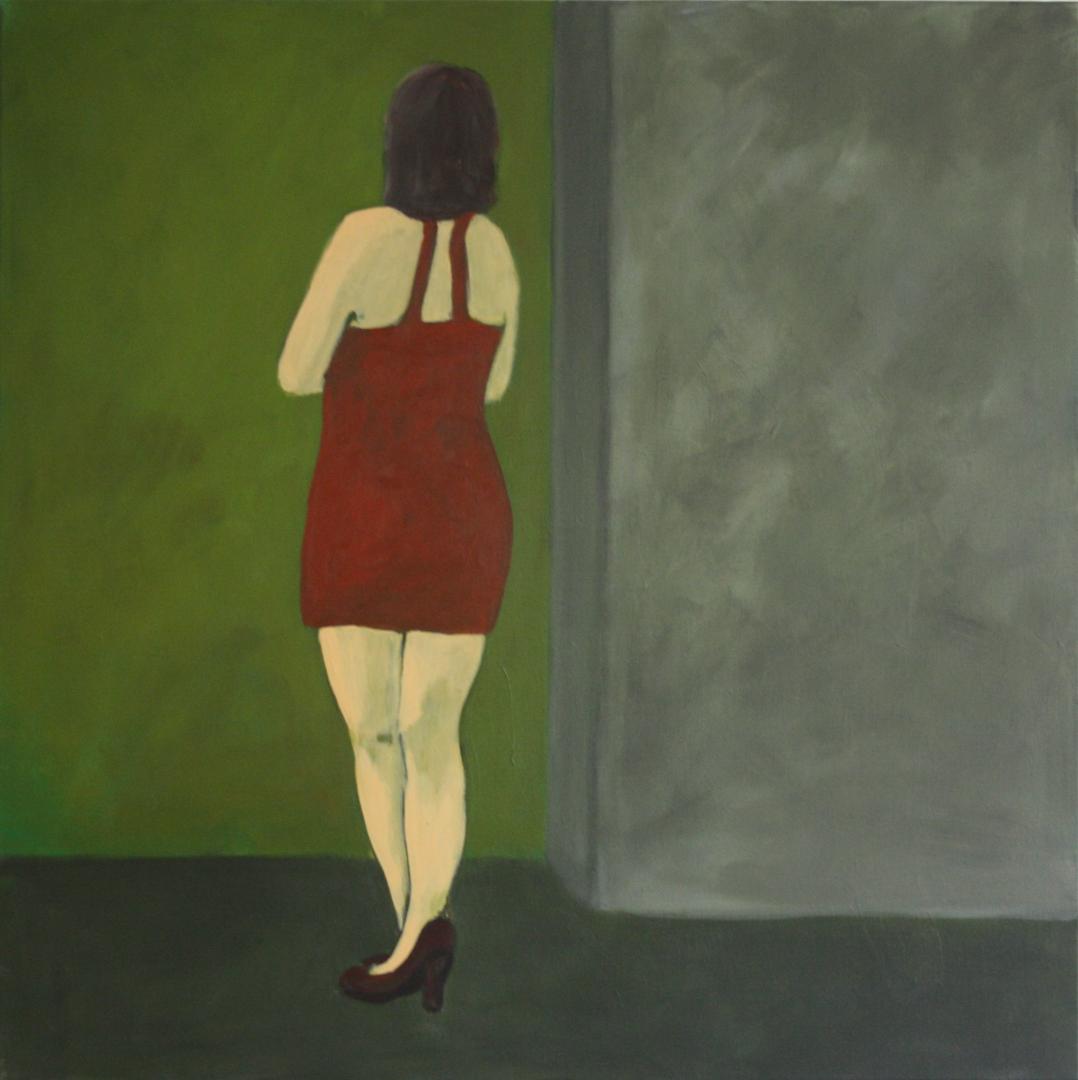 Ohne Titel, Acryl auf Leinwand, 80x80cm